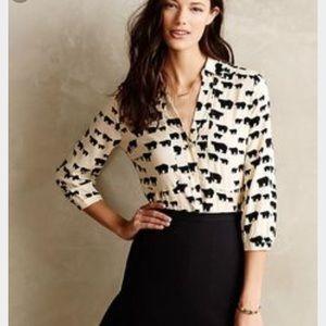 Antropologie} bear print blouse